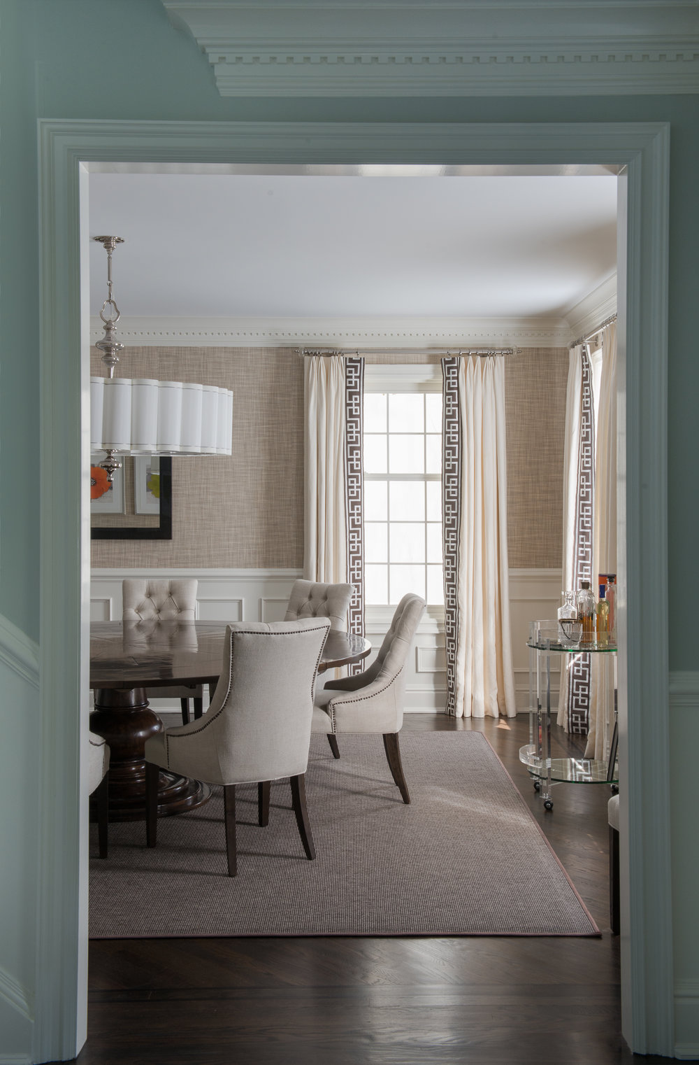 DINING ROOM - WINDOW TREATMENT