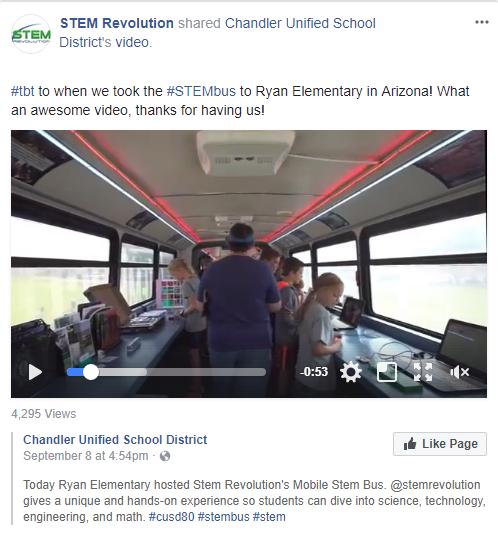 Chandler School STEM Bus West Coast Tour
