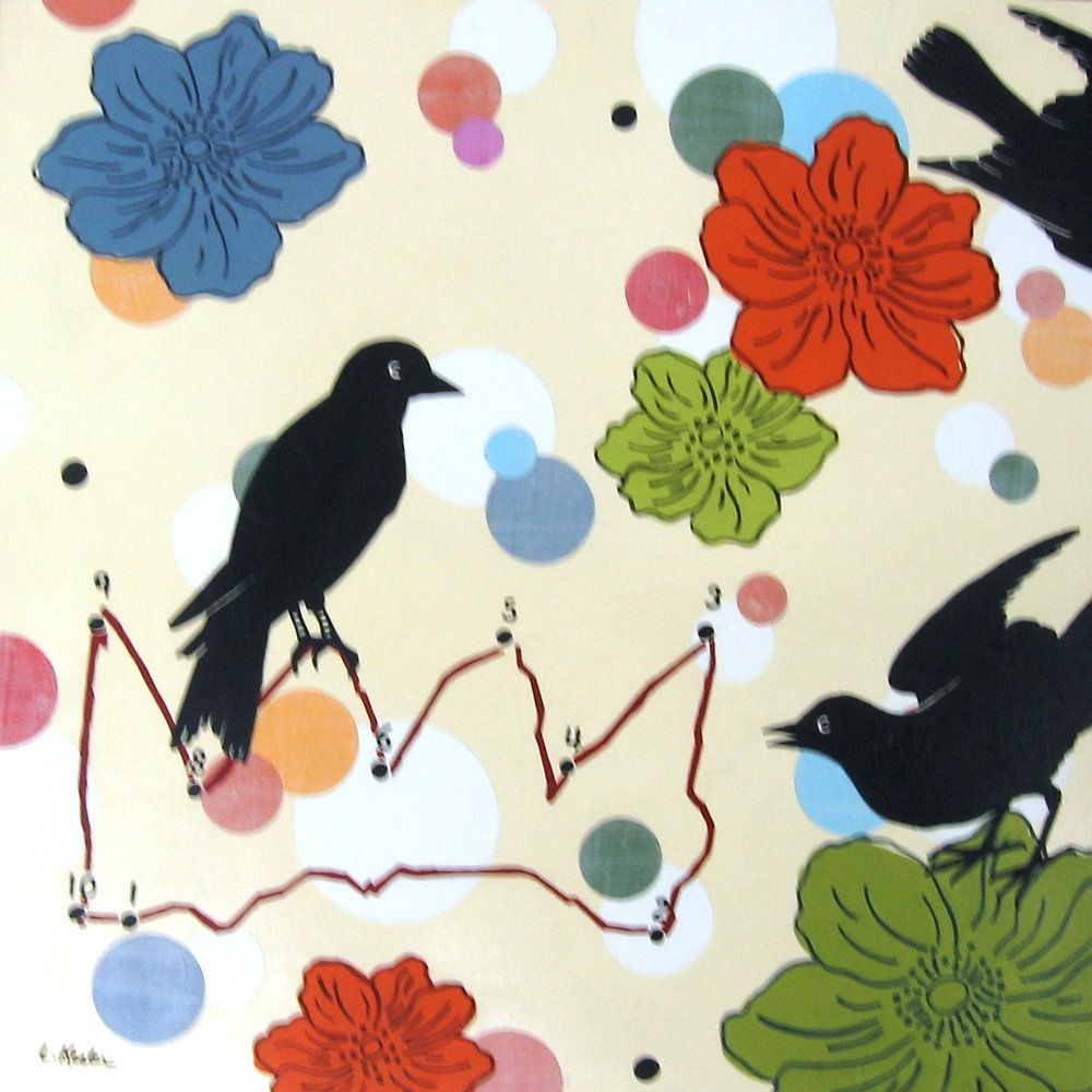 Lisa Kesler- Crows & Crown i.s- 16x16.JPG