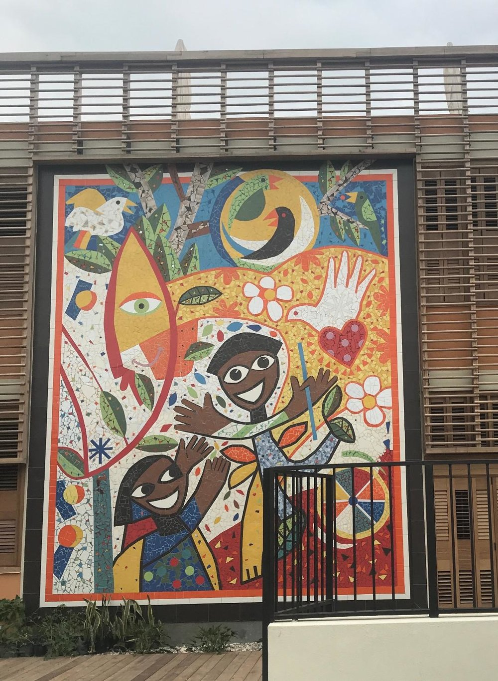 Mural on the new children's center