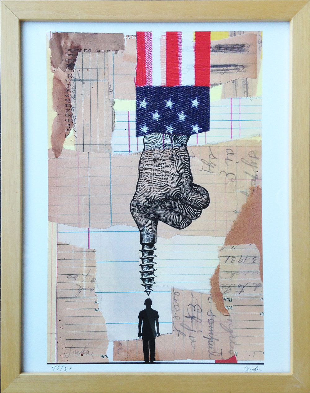 """Screwed"" by Anthony Freda Print on Paper 8.5"" by 13"""