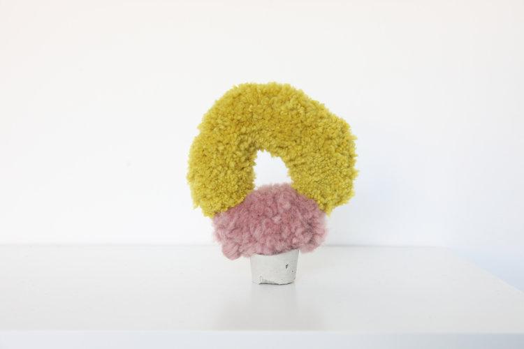 "Alise Anderson  4"" Wool yarn, cement"