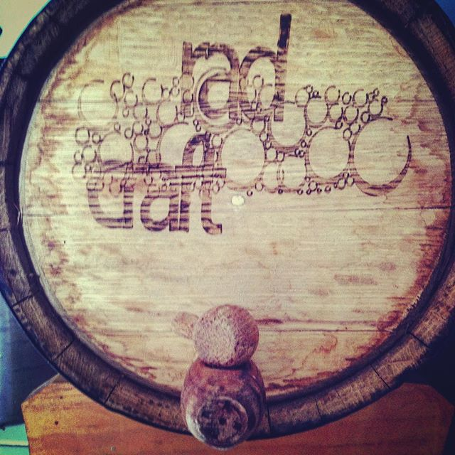 Baby's first barrel. First logo, too. It's incredible what can happen in #5radyears. 📷: @slothy_t