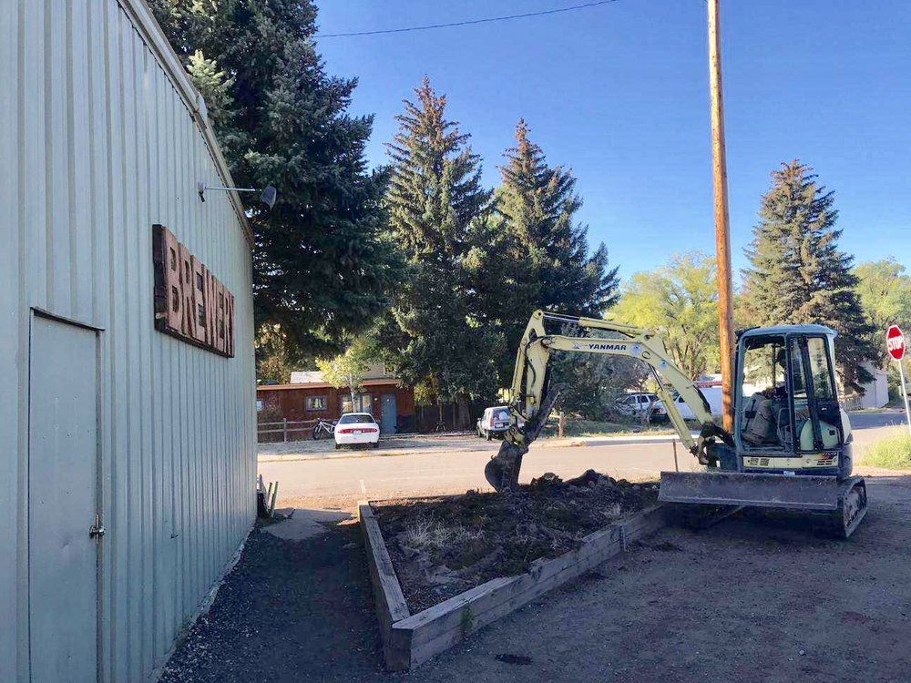breaking ground at Bonfire Brewing on September 17, 2018