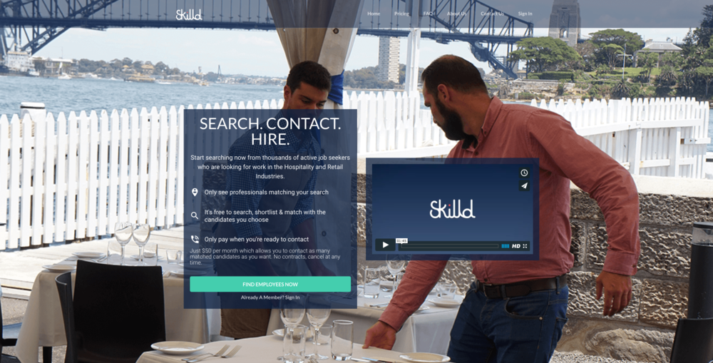 Skilld.com is a double sided marketplace that instantly connects local business to local talent.