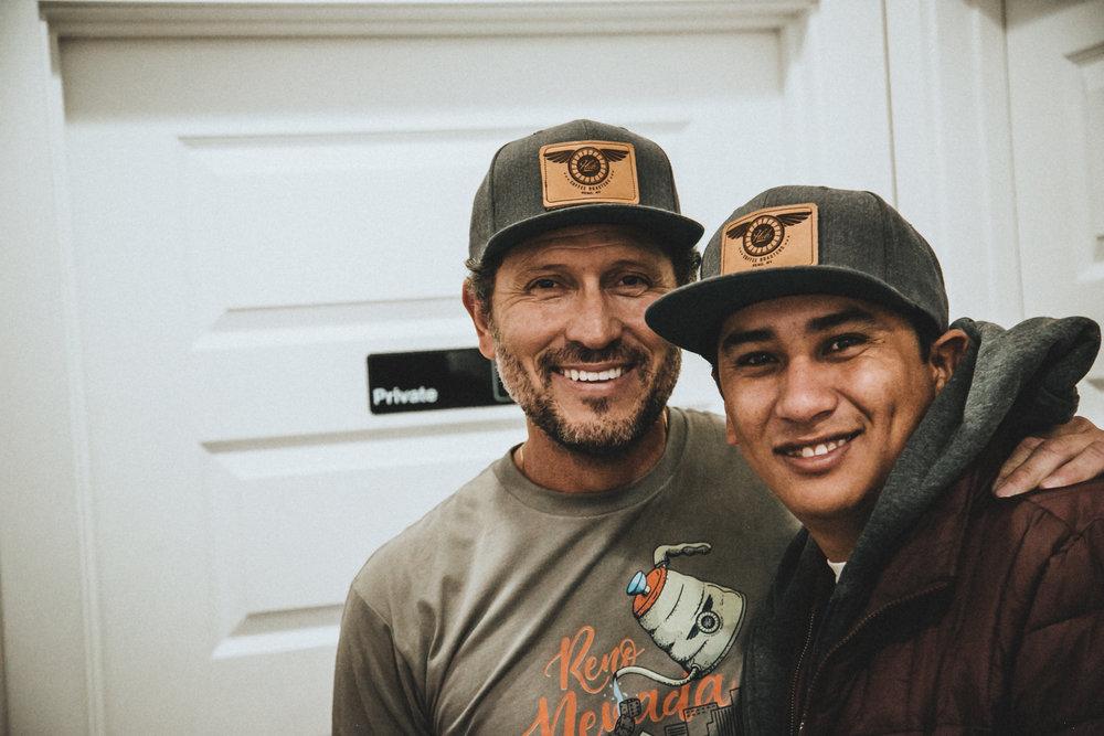 Mark Trujillo and Rodrigo Sanchez at the Reno CoffeeChamps Latte Art Throwdown