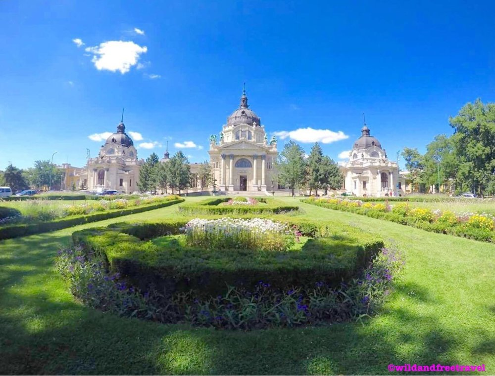 Budapest Thermal Bath House Garden