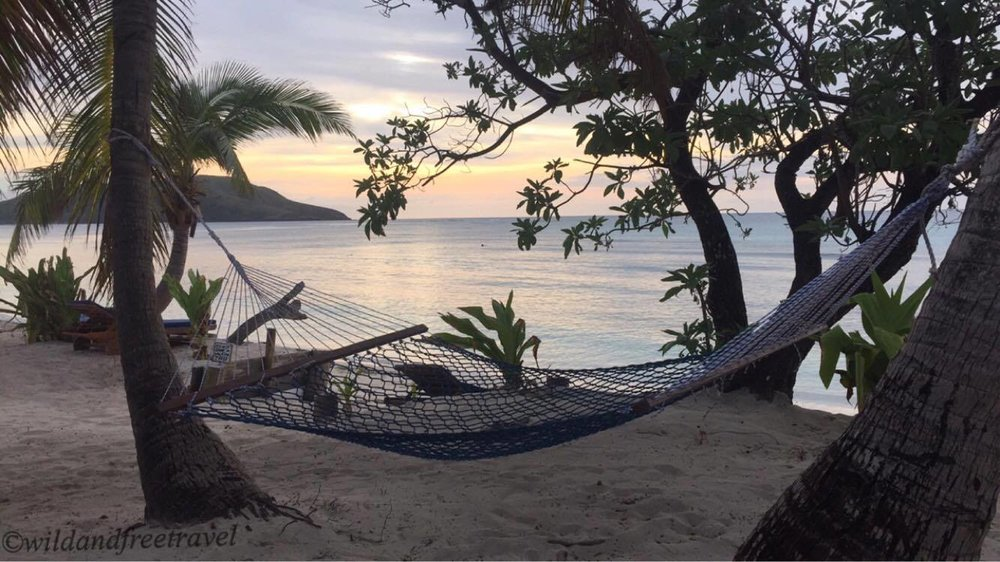 Hammock + Fiji sunset= <3