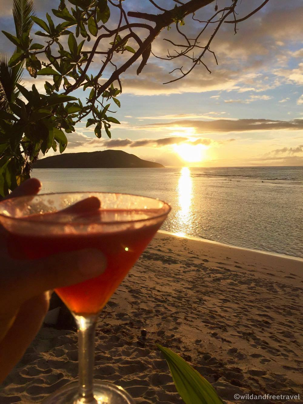 Cheers to sunset cocktails in Fiji <3