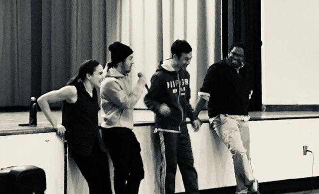 #Candidshot of our first Q&A with the choreographers of the @92ndstreety Education series at PS 41. Wonderful cohort and brilliant performers. Can't wait for tomorrow at 92Y.