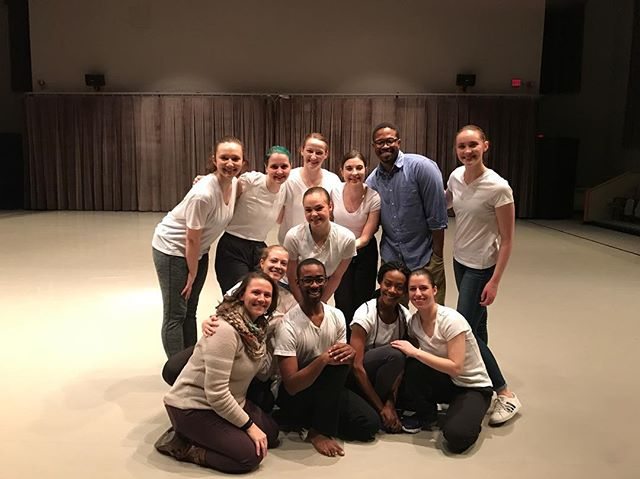 #tbt Artistic Director Danté Brown teaching and making work at SUNY Brockport. #dance #ny #art #cuny #college
