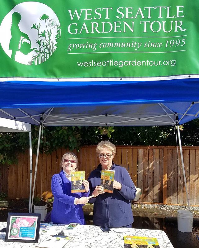 We are at the  Westside Plant & Garden Art Fair today and tomorrow. Come say hello, and buy your West Seattle Garden Tour tickets! #westseattlegardentour #westseattle