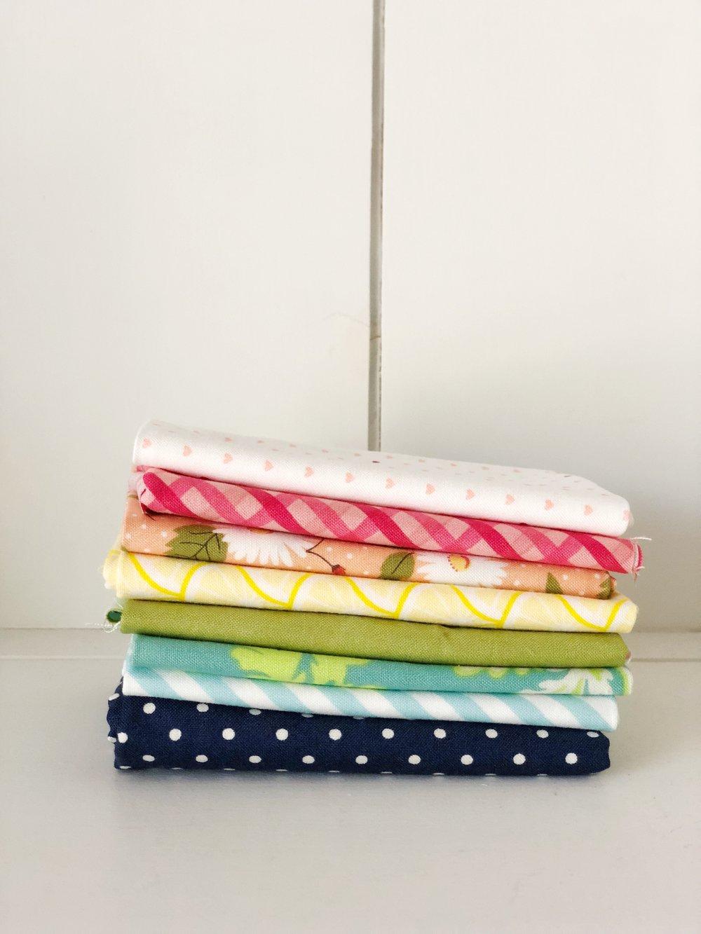 rainbow stack fabric