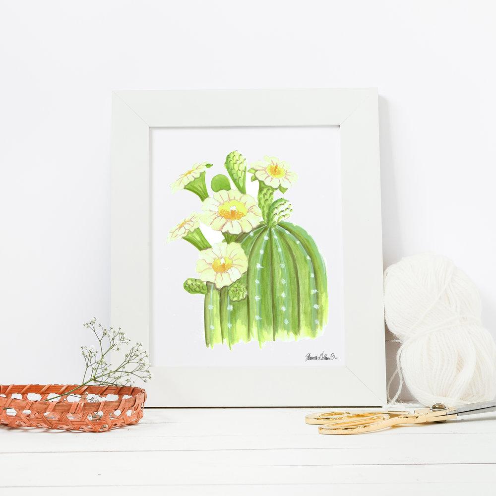 Saguaro art print