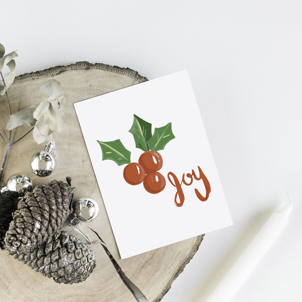 Holly and Joy Card