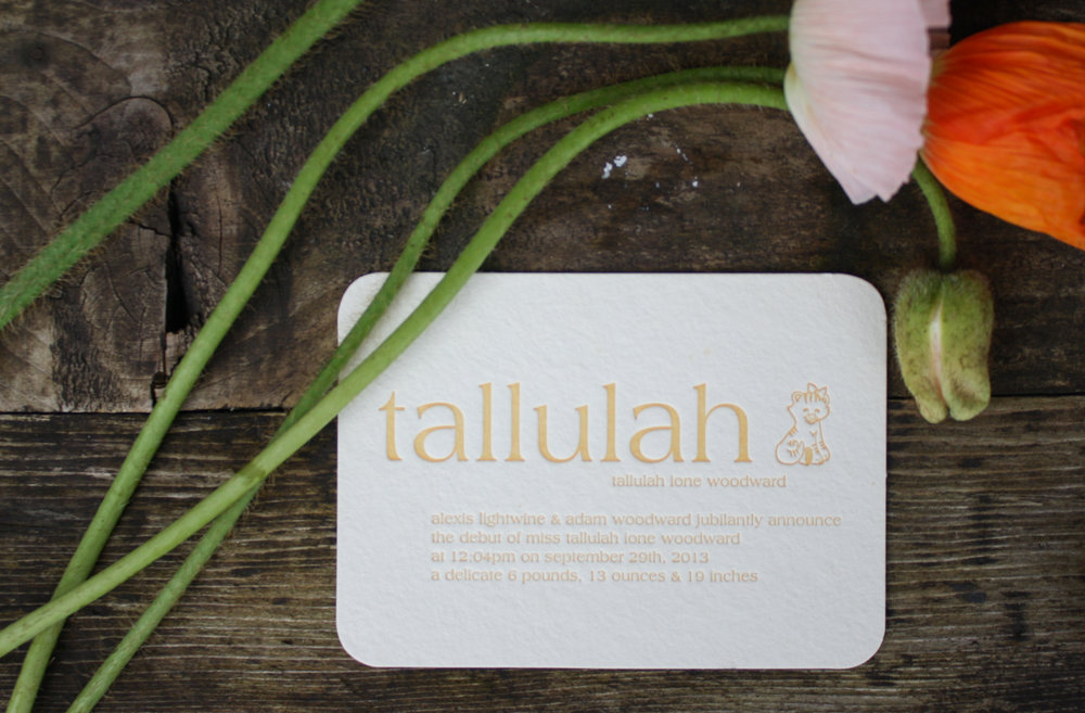 The Tallulah Announcement