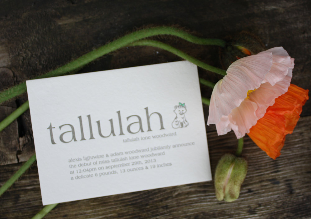 The Talluhah Announcement