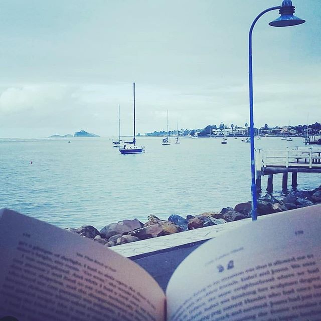 Blue #Monday . . . . . . #humid #hometown #holiday #busy #batemansbay #summer #rain #shower #bookish #pages #Last #read #2018 #blue #boats #sail #outdoors #river #relax #reading #seascape #view #water #color