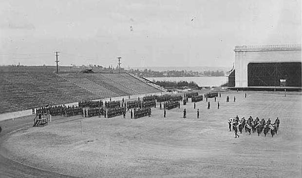 ROTC Field day in husky stadium, 1921      (special collections, uwc0747)