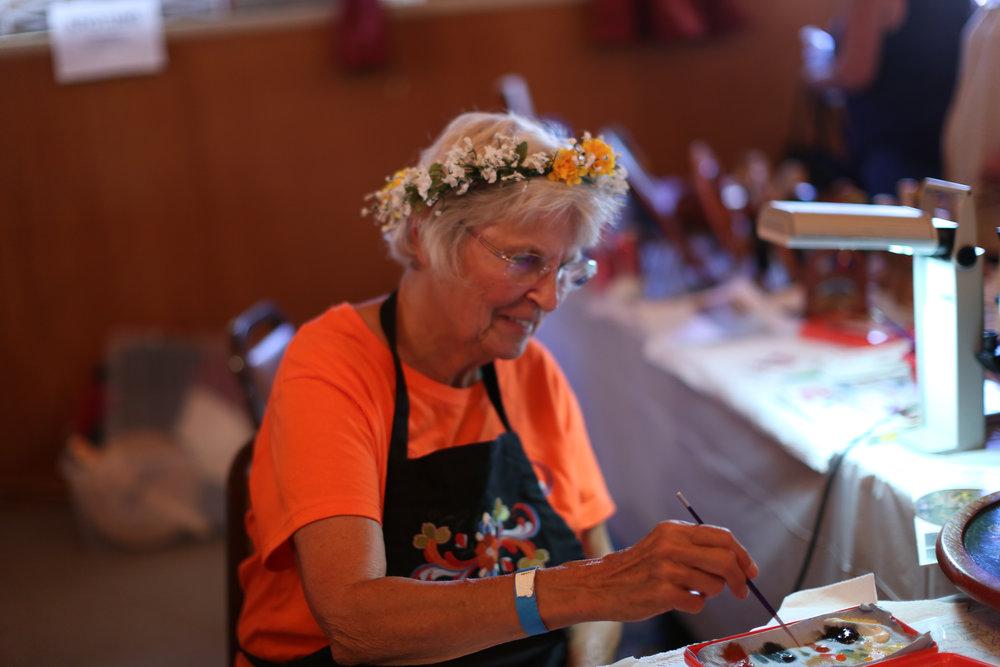 Norway Heritage Hall. Fresh Lefse, Krumkake. Hand crafts and imports from Scandinavia. (Photo: Vista Viking Festival)