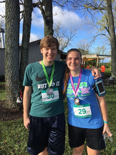 Julie Bussen got 1st place in her division and her brother Steven took home 2nd in his. Way to go, super sibs!