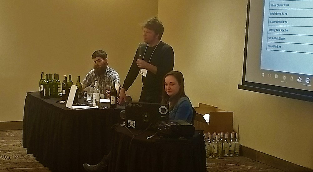 Presenters spoke about growing grapes in Kansas and making wine