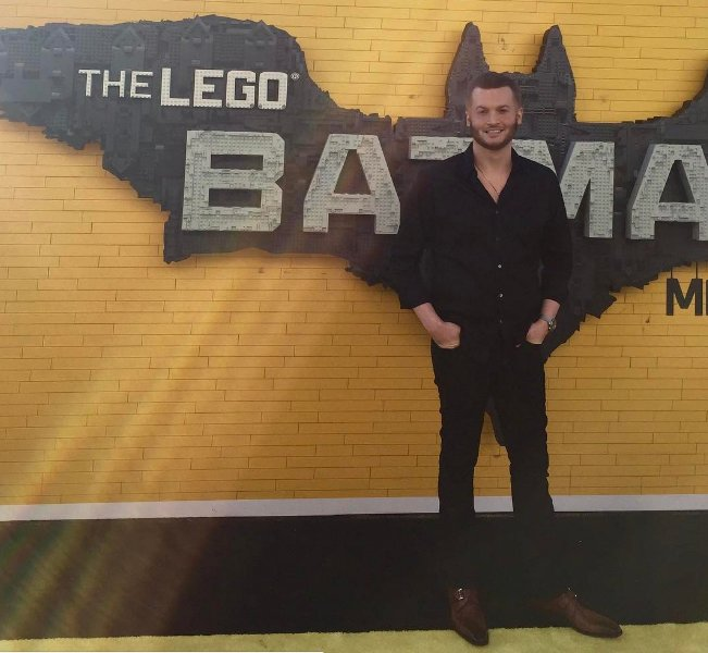John Powers Middleton at the Lego Batman Premier, Los Angeles, CA