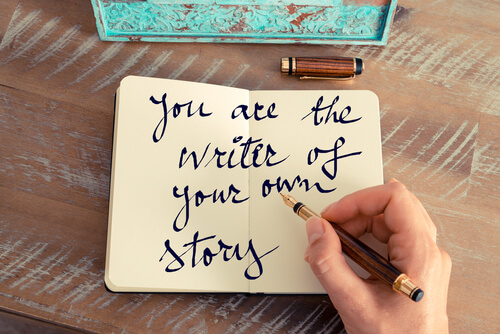 a journal that says you are the writer of your own story