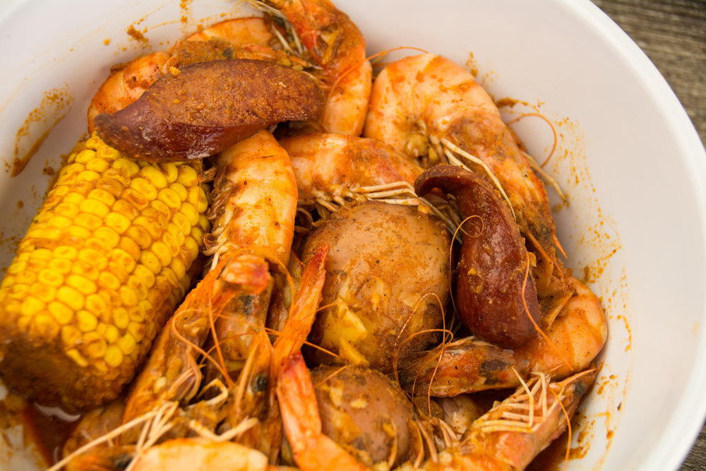 shrimp tuesday  all day long  Get one pound of cajun shrimp with sausage, corn, potatoes for only 12.99