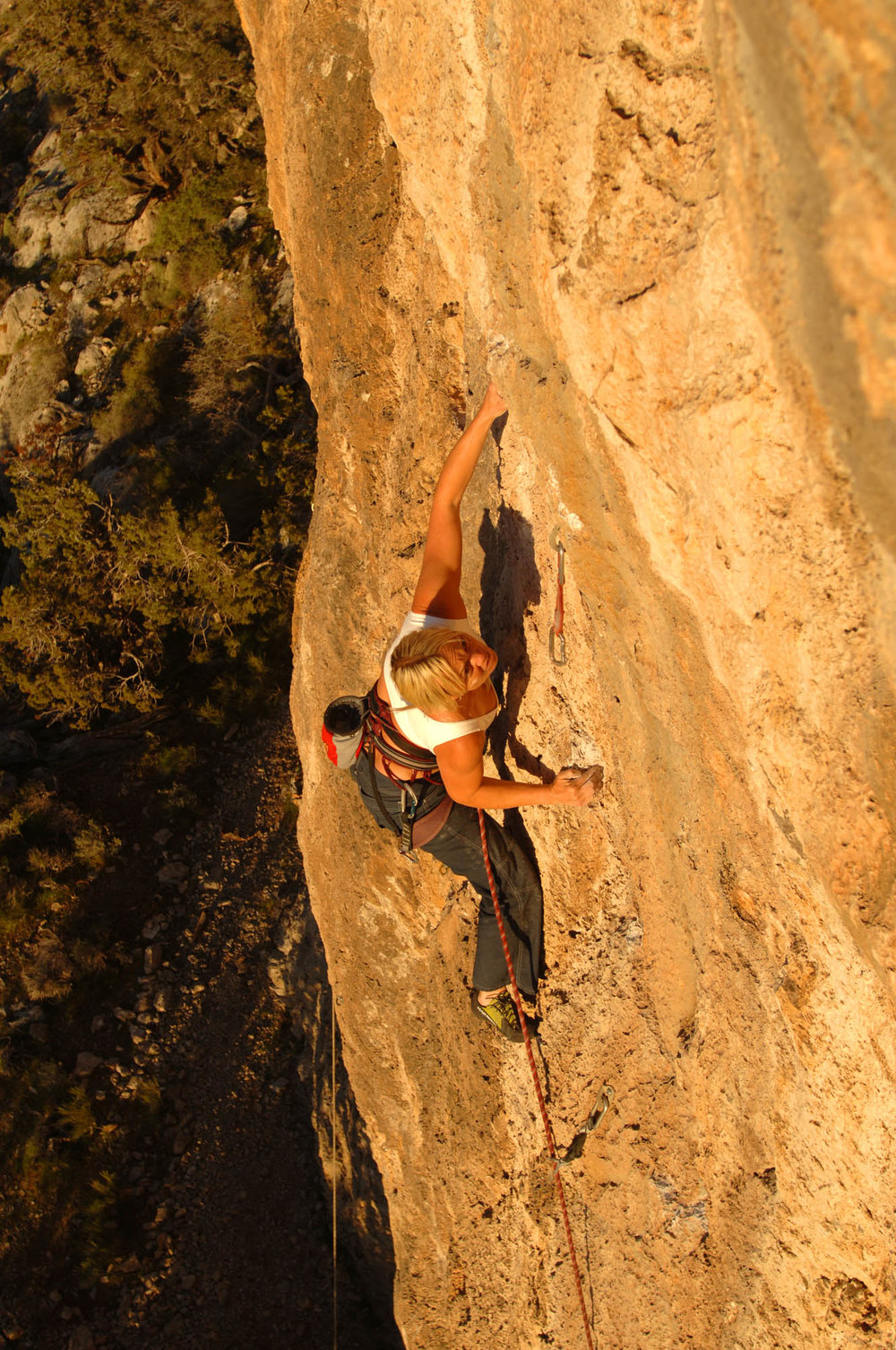 Misty on the classic route 'Hobytla' 13a @ Welcome Spring, Utah photo- Keith Ladzinski