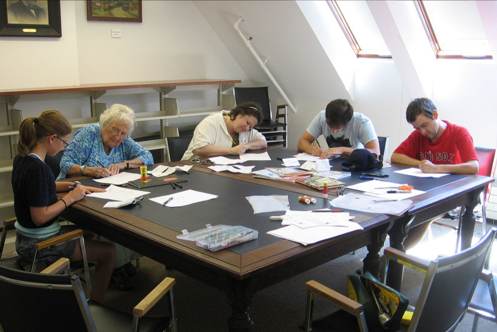 Comics workshop at a New Hampshire's Woodstock Bookstock Festival
