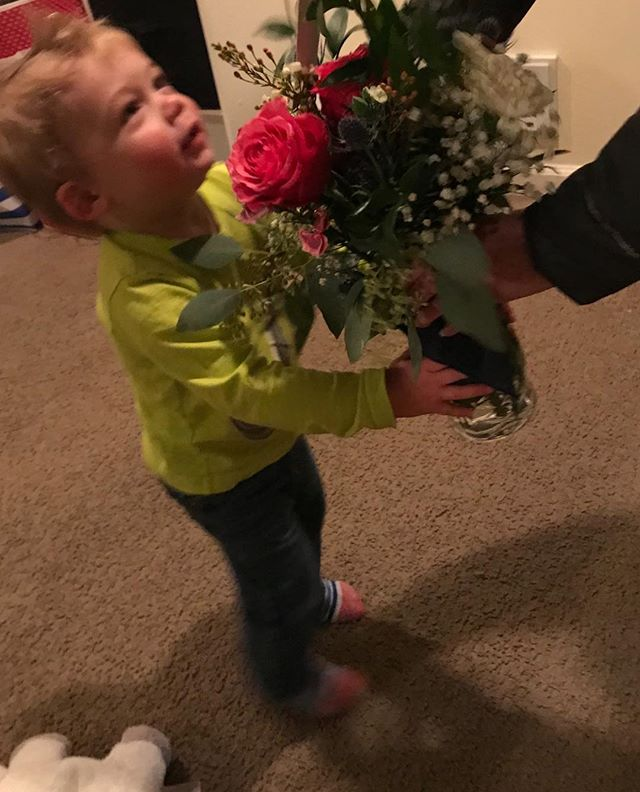 He made her day! #infullbloom #flowerssayitall #adorableboy#flowers