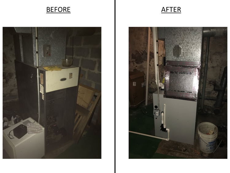 Right Side - Furnace (switched from oil to gas)