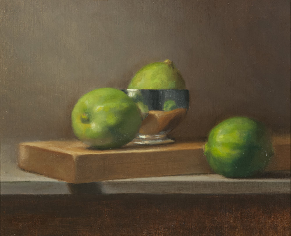Etude in Green,  2016, oil on linen, 8 x 10 in. Private collection.