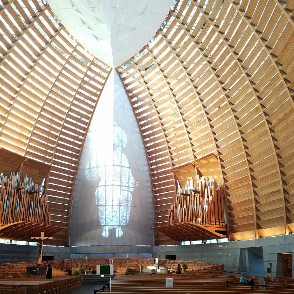 Baptism of my godson was held at the awe inspiring Cathedral of Christ the Light - Oakland