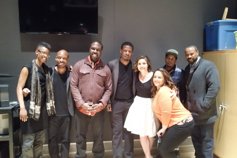 Me, Keyon and band and support from Dizzy's show.JPG