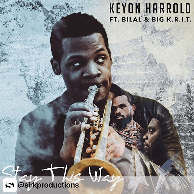 If you're into #Jazz, you'll love this! _____ One of our own, Adrian designed the single cover art for the 2016-Grammy Nominee Keyon Harrold ft. Bilal & Big K.R.I.T.!