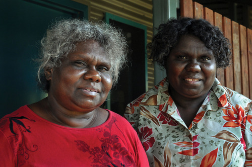"Senior Mirarr Women Yvonne Margarula and Nida Mangarrbar welcome you.   ""Bininj culture is really strong. You have to look after country. For your grandfather's country and mother country, you need to take care."" Yvonne Margarula, Mirarr Senior Traditional Owner."