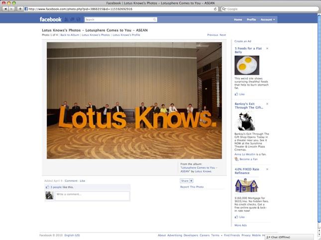Lotus knows: Facebook
