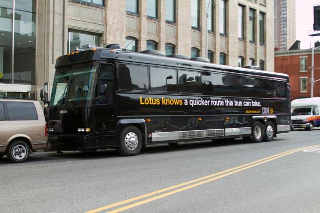 Lotus knows: Bus Wraps