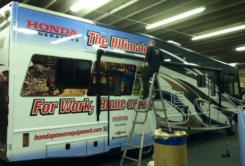 Honda Generators truck wrap progress.jpg
