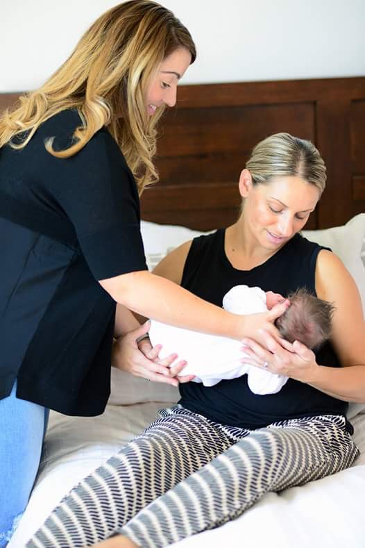 Breastfeeding appointment at home with Melissa + baby Mia (four weeks old).