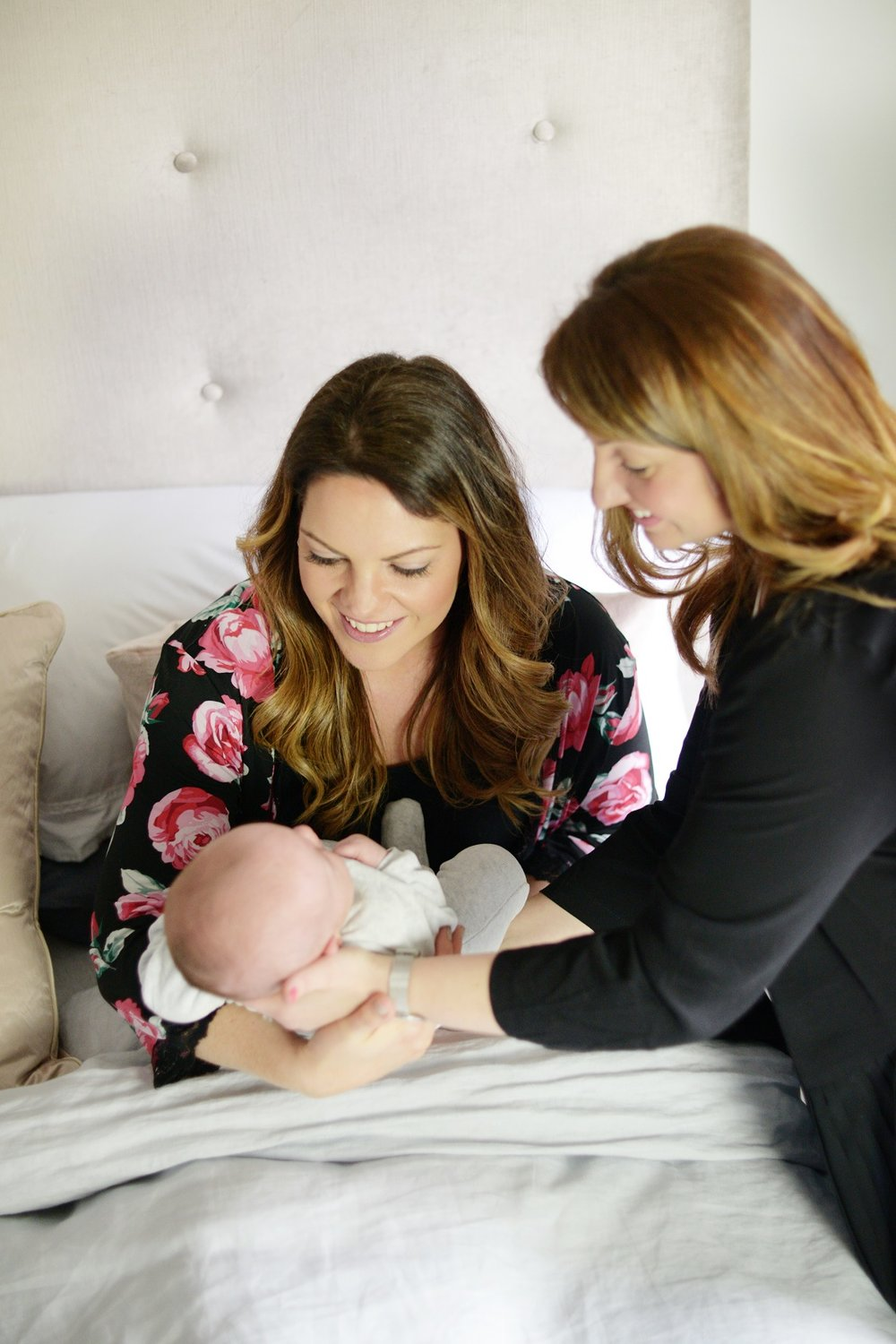Breastfeeding appointment at home with Sarah + baby Oscar (two days old).