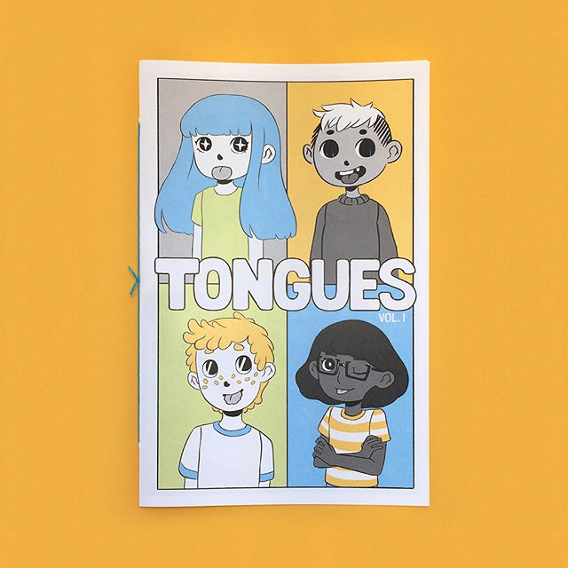 Tongues is done! It's 24 pages of full color shenanigans. You can find it in my shop, link in bio!  #comic #tongues #illustration #zine #artistsoninstagram