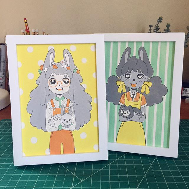 It's the last week to check out the #bunny show @candybabel ! All of the artwork will be taken down Monday, so check out some cute work by local artists and stock up on sweets this weekend. If you are interested in any of the art 10% of the profits from the show will be going to @bunniesinbaskets a nonprofit with therapy bunnies!