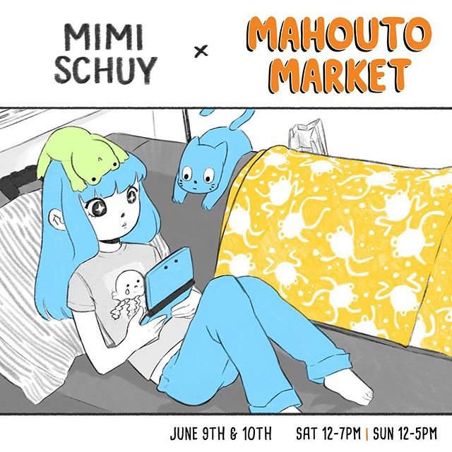 Hi friends!  I'll be in Seattle at #mahoutomarket this weekend! There'll be a lot of cool artists so if you can stop by, we'll be in the Yesler Community Center.
