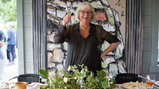 Juliet Harbutt at the River Room with Black Barn wines