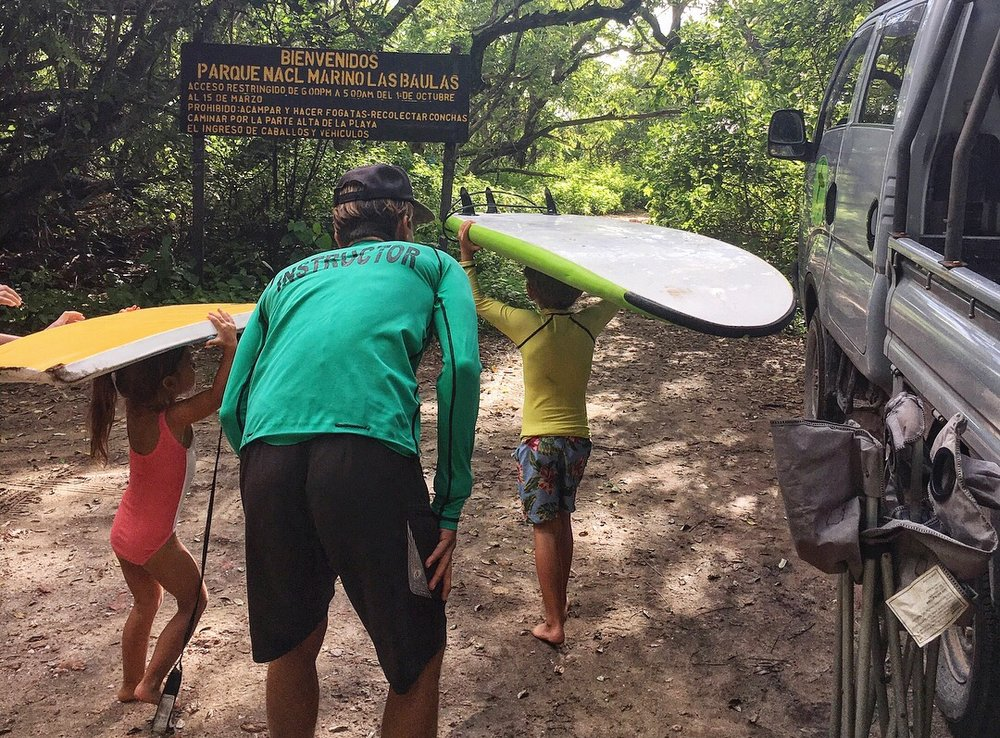 Surf lessons with JJ at  Frijoles Locos  in Playa Grande