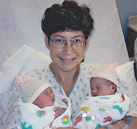 Susan With Girl Twins