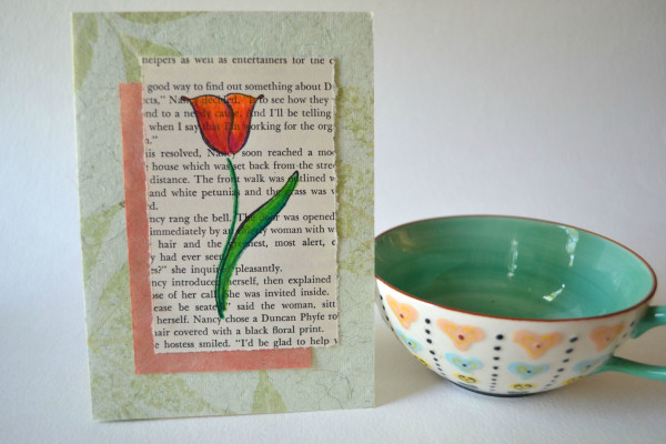 Finished Book Page Card